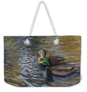 Ducks In The Pond Weekender Tote Bag