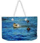 Ducks In Water Weekender Tote Bag