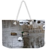 Ducks In Winter Weekender Tote Bag