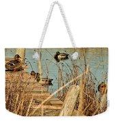 Ducks On A Pond Weekender Tote Bag