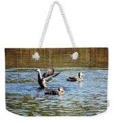 Ducks On Colorful Pond Weekender Tote Bag