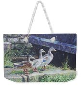 Ducks On Dockside Weekender Tote Bag