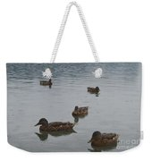 Ducks On Lake Bled Weekender Tote Bag