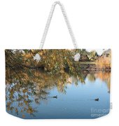 Ducks On Peaceful Autumn Pond Weekender Tote Bag