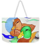 Ducks2017 Weekender Tote Bag by Loretta Nash