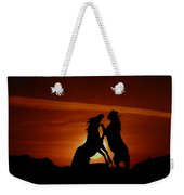 Duel At Sundown Weekender Tote Bag