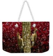 Dueling Woodpeckers Weekender Tote Bag