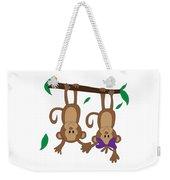 Duffworkscreative_monkeyfunlove_holdinghands Weekender Tote Bag