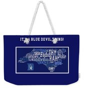 Duke University Blue And White Products Weekender Tote Bag