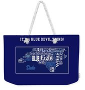 Duke University Fight Song Products Weekender Tote Bag