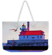 Duluth Lighthouse Weekender Tote Bag
