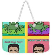 Dumb Rick Perry/smart Rick Perry Weekender Tote Bag