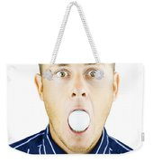 Dumbfounded Man Silenced By A Golf Ball Weekender Tote Bag