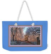 Dundalk Avenue In Winter. L A With Decorative Ornate Printed Frame. Weekender Tote Bag
