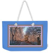 Dundalk Avenue In Winter. L B With Decorative Ornate Printed Frame. Weekender Tote Bag