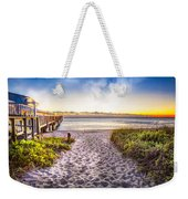 Dunes At The Pier Weekender Tote Bag