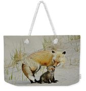 Dunr Fox Father And Child Weekender Tote Bag