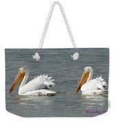 Duo Pelicans Weekender Tote Bag