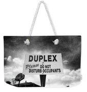 Duplex Yard Sign Stormy Sky In Bw Weekender Tote Bag