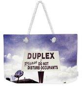 Duplex Yard Sign Stormy Sky Weekender Tote Bag