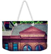 Duquesne Incline Of Pittsburgh Weekender Tote Bag by Lisa Russo