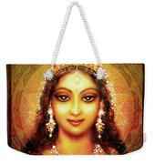 Durga In The Sri Yantra Weekender Tote Bag