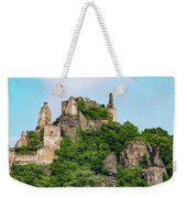 Durnstein Castle And Stone Outcroppings Weekender Tote Bag