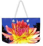 Dusk And A Dahlia Weekender Tote Bag