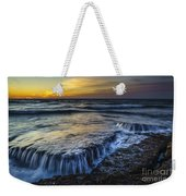 Dusk At Torregorda Beach San Fernando Cadiz Spain Weekender Tote Bag