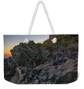 Dusk At West Quoddy Head Lighthouse Weekender Tote Bag