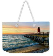 Dusk In Charlevoix Weekender Tote Bag