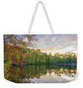 Dusk On Autumn Lake  Weekender Tote Bag