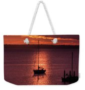 Dusk On The Bay Weekender Tote Bag