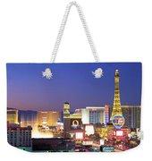 Dusk, The Strip, Las Vegas, Nevada, Usa Weekender Tote Bag