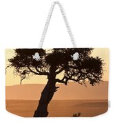 Dusty Sunset Over The Mara Weekender Tote Bag