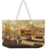 Dutch And English Warships Weekender Tote Bag