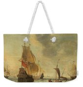 Dutch Ships In A Lively Breeze Weekender Tote Bag