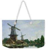 Dutch Windmills Weekender Tote Bag by Eugene Louis Boudin