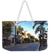 Duval Street In Key West Weekender Tote Bag