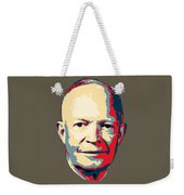 Dwight D. Eisenhower Pop Art Weekender Tote Bag