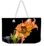 Dying Dahlia Flower Weekender Tote Bag