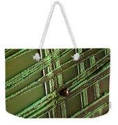 E. Coli In Culture Dish, Macro Image Weekender Tote Bag