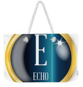 E For Echo Weekender Tote Bag