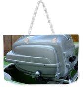 Vintage Silver Outboard Boat Motor Weekender Tote Bag