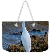 Eager Egret Weekender Tote Bag
