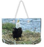 Eagle Calls In Its Mate Weekender Tote Bag