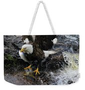 Eagle Catches Fish Weekender Tote Bag