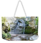Eagle Cliff Falls Panorama Weekender Tote Bag by William Norton