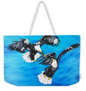 Eagle Fight Weekender Tote Bag
