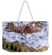 Eagle Flies Above Gorge Weekender Tote Bag by Carol Law Conklin